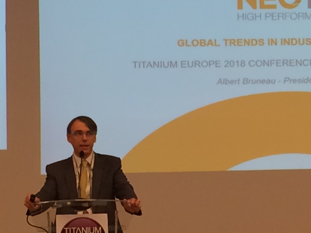 President of Neotiss has spoken during the Titanium Europe 2018 conference